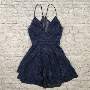 Love, Nickie Lew  Glitter Lace Skater Dress Size L